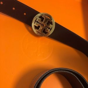 Tory Burch Double reversible Gold/ Brown Belt